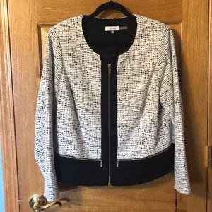 Calvin Klein black and white jacket
